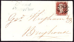 65780 - LEEDS/'ELLAND PENNY POST' HAND STAMP ON 1842 COVER. 1842 letter from Elland Leeds to Brighouse with fou...