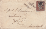 66293 - BRISTOL. 1846 envelope Bristol to Truro with four ...