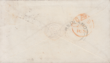 66294 - BRISTOL REDLAND UDC. 1856 envelope Bristol to London with 1d star tied...