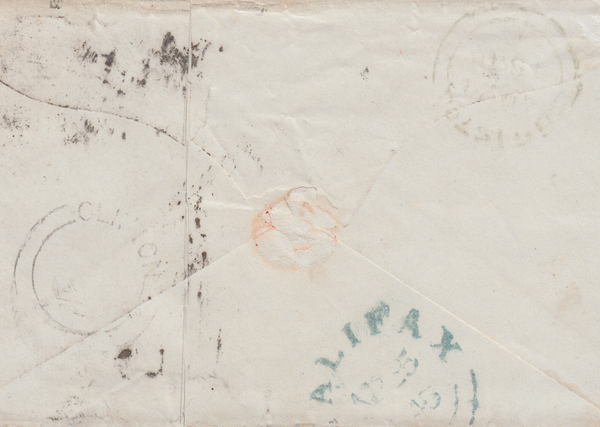 66388 - BRISTOL CLIFTON UDC/PLATE 46 (SK). 1845 envelope (opened out for display) Br...