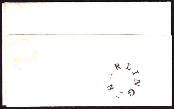 66612 - NORFOLK. 1836 envelope Harling to Wymondham dated ...