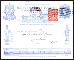 67002 - 1890 PENNY POSTAGE JUBILEE USED IN 1924 SHEFFIELD TO LONDON. Fine used 1d blue enve...