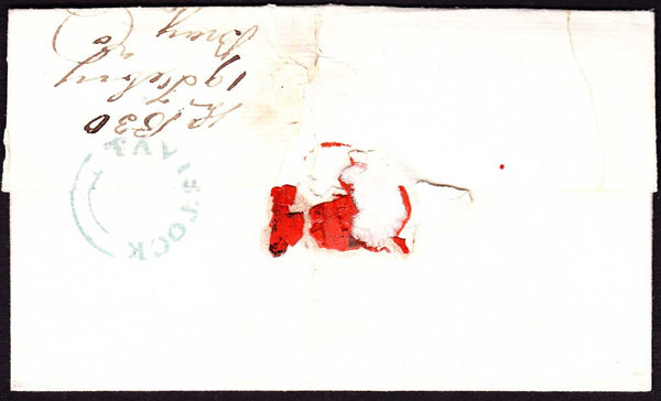 67189 - DEVON. 1830 wrapper (several tears) Tavistock to L...