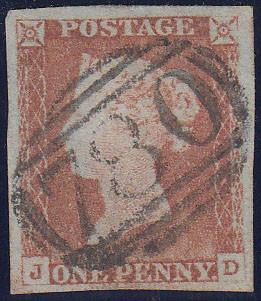 67307 - 1846 1d pl. 66 (JD) (SG8).Fine used with fine marg...
