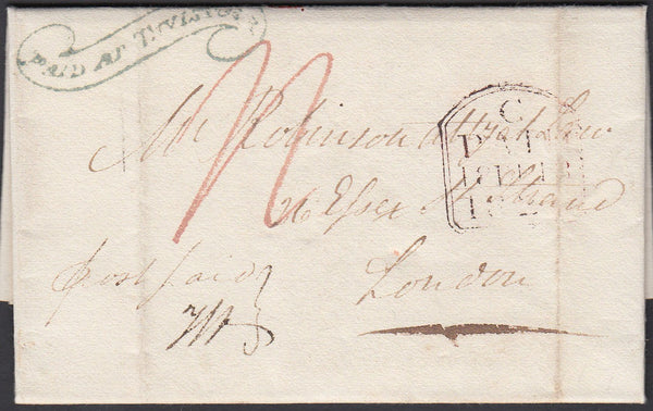 "67350 - DEVON - THE ""TAVISTOCK SCROLL"" (DN1335). 1826 lett..."