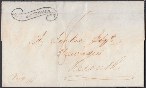 "67363 - DEVON - THE ""TAVISTOCK SCROLL"" (DN1335). 1834 wrap..."
