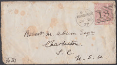 67771 - EDINBURGH DOTTED CIRCLE TO USA (RA11)/2½d PL.7 (SG...