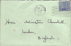 67818 - MAIL TO WINSTON CHURCHILL. 1941 envelope East Oran...
