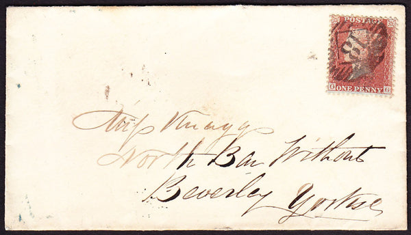 67831 - Pl.42 (OG)(SG29) ON COVER. Envelope London to Beverley, Yorkshire with S...