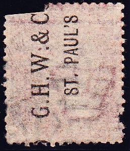 "68219 ""G.H.W. and CO/ST PAUL'S"" PROTECTIVE UNDERPRINT READING UPWARDS (SPEC PP219)."