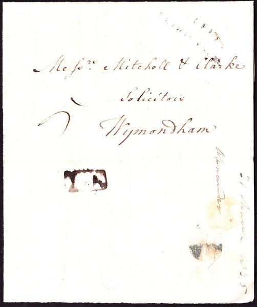68540 - NORFOLK. 1835 letter Hingham to Wymondham dated 31...
