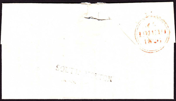 68607 - 1826 DEVON/'SOUTH MOLTON' HAND STAMP(DN1281). Health questionnaire South Molton to L...