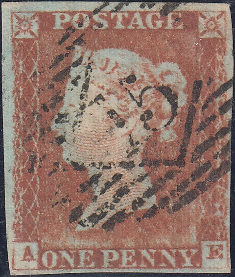 68878 - 1843 1d pl.41(AE) showing platewear (SG9). Good to...