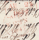 68928 - Pl.71 (LA)(SG8)/ENORMOUS MARGINS ON COVER. 1847 wrapper Edinburgh to Dumfrie...