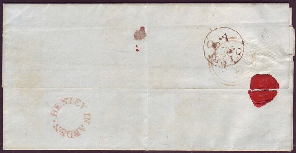 69104 - WARWICKSHIRE. 1837 letter used locally in London r...