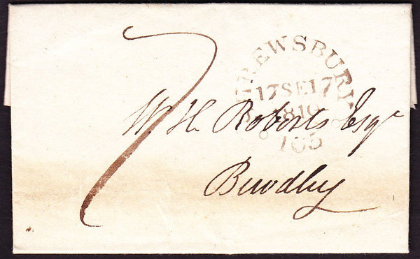 69186 - SHROPSHIRE. 1810 letter Shrewsbury to Bewdley with...