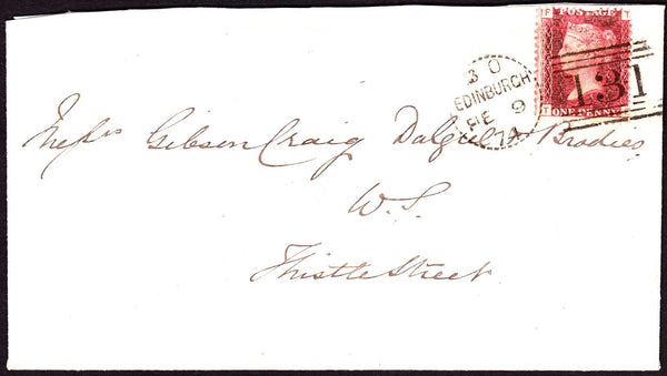 69908 - EDINBURGH DOTTED CIRCLE. 1874 envelope (slightly t...