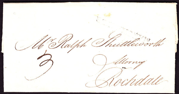 70056 - 1799 MANCHESTER HAND STAMP(M51). 1799 letter Manchester to Rochdale dat...