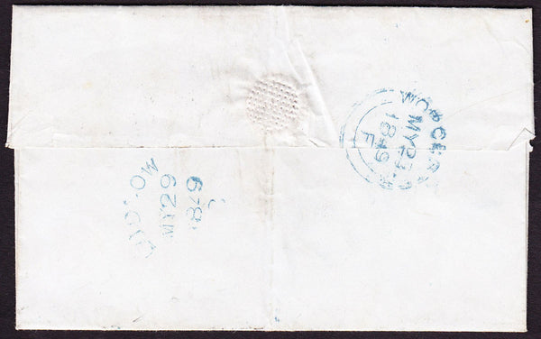 70198 - 1849 SHROPS/'LUDLOW' SKELETON HAND STAMP (SH268). Wrapper Worcest...