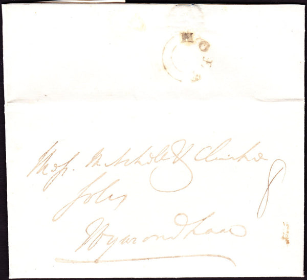 70275 - NORFOLK. 1834 letter Holt to Wymondham dated 25th ...