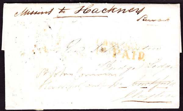 70365 - LONDON. 1859 envelope (slight soiling) used locall...