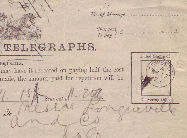 70692 - POST OFFICE TELEGRAPH/SHROPSHIRE. A fine example u...