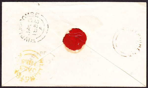 70833 - SOMERSET. 1855 1d pink envelope Weston Super Mare ...