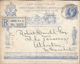 70857 - 1890 PENNY POSTAGE JUBILEE ENVELOPE SENT REGISTERED IN 1913.  Good used example of...