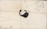 70905 - BRISTOL. 1826 letter (tear) Bristol to Plymouth wi...