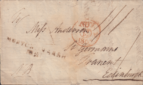 "71195 - GLOS. 1807 letter from ""Parsonage Upper Swell"" to ..."