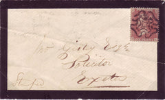 71835 - 1856 LATE USE OF THE MALTESE CROSS AT BRIDGEWATER ON COVER.