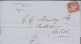 72320 - Pl.89 (SG8)(SF) ON COVER. 1849 wrapper London to Carlisle w...
