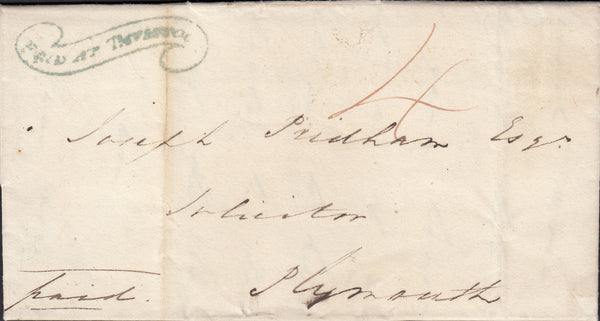 "72397 - DEVON - THE ""TAVISTOCK SCROLL"" (DN1335). 1826 lett..."