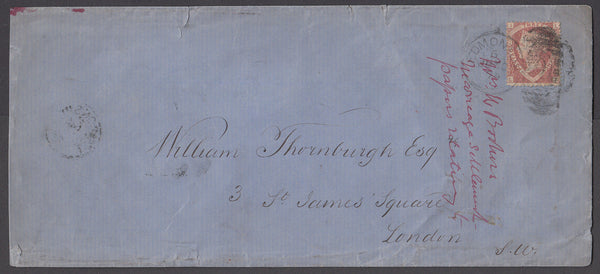 72479 - 1874 MAIL USED IN LONDON 1½d SHIELD PL.1 (SG 51)(LI).