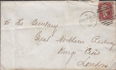 72660 - 1874 'VICKERS SONS AND CO LIMITED SHEFFIELD' UNDERPRINT (SPEC PP198) USED ON COVER. 18...