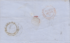 "73106 - BRISTOL - ""FRENCHAY"" UDC/PLATE 152 (BE). 1853 wrapper Bristol to ..."