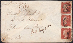 73219 - CRIMEAN WAR/PL.1 (OJ OH RH) (SG21). 1855 envelope ...