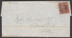 "73372 - 1856 1D STAR CANCELLED BLUE MALTESE CROSS AND ""530..."