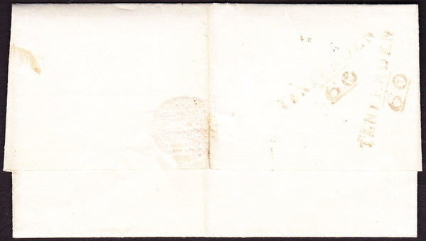 73388 - KENT. 1823 wrapper Tenterden to Charing dated 5th ...