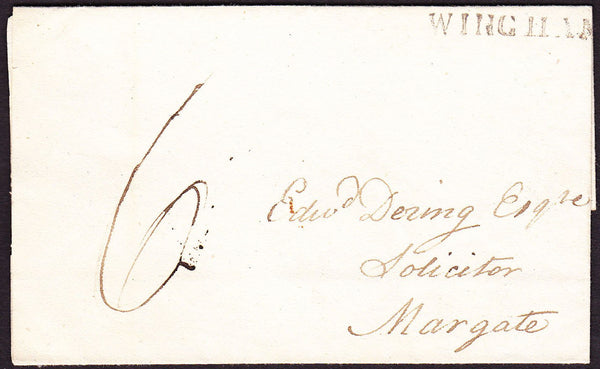 73393 - KENT. 1831 letter Wingham to Margate dated October...