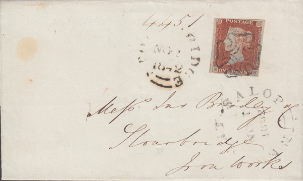 73472 - 1842 NEWPORT (SALOP) MALTESE CROSS. Wrapper...