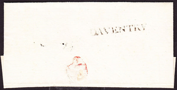 73628 - 1792 NORTHANTS/DAVENTRY HAND STAMP(NN42). 1792 fine clean wrapper Daventry to Northam...