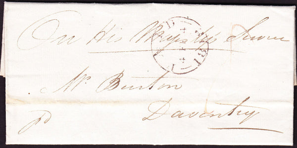 73633 - 1818 NORTHANTS/OHMS. 1818 entire from the Office...