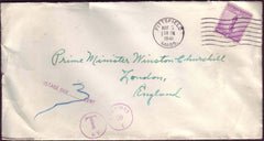 73740 - MAIL TO WINSTON CHURCHILL. 1941 envelope from Pitt...
