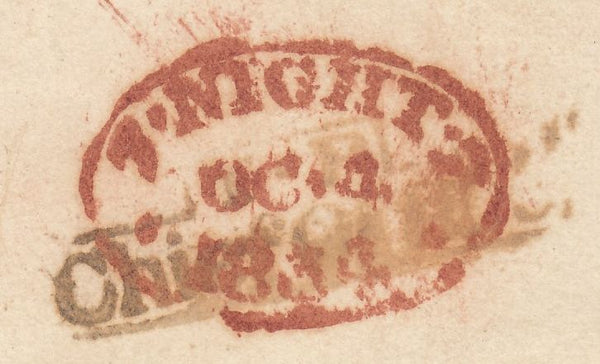 73821 - 1834 UNPAID MAIL. Wrapper used locally in London a...