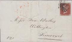 73914 - BRISTOL MALTESE CROSS/PLATE 14 (TL). 1841 wrapper Bristol to Wel...