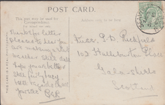 74270 - ISLE OF WIGHT. 1907 post card of Irene Vanbrugh to...