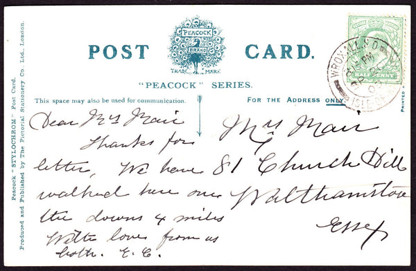 74272 - ISLE OF WIGHT. 1909 post card of Wroxall Church I....