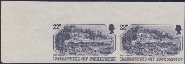74369 - 1982 GUERNSEY 22p OLD PRINT (SG251). A fine IMPERF...