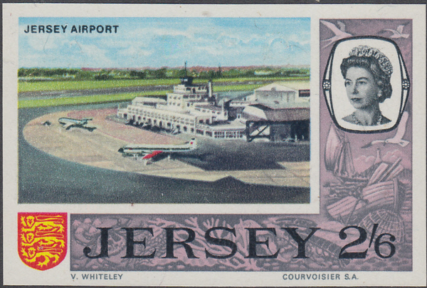 74378 - 1969 2/6d JERSEY PRE-DECIMAL (SG26) IMPERFORATE PROOF.  A very ...